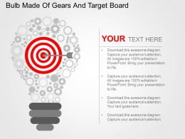 bulb_made_of_gears_and_target_board_flat_powerpoint_design_Slide01
