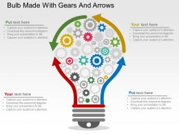 bulb_made_with_gears_and_arrows_flat_powerpoint_design_Slide01