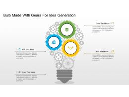 Bulb Made With Gears For Idea Generation Flat Powerpoint Design