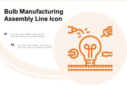 Bulb Manufacturing Assembly Line Icon