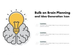 Bulb On Brain Planning And Idea Generation Icon