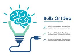 Bulb Or Idea Achieving Sales Target Ppt Influencers