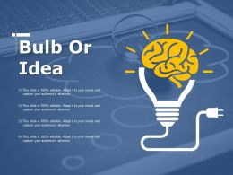Bulb Or Idea Adkar Model Ppt Infographic Template Clipart