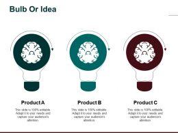 Bulb Or Idea Business Process Management Ppt Ideas Aids