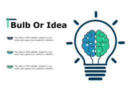 Bulb Or Idea Change Management Overview Ppt Show Pictures