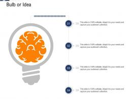 Bulb Or Idea Continuous System Integration Model Ppt Formats