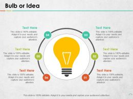 Bulb Or Idea Data Architecture Ppt Portfolio Objects