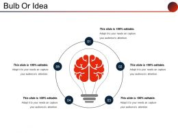 Bulb Or Idea Example Of Ppt