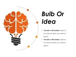 Bulb Or Idea Example Of Ppt Presentation
