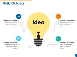 Bulb Or Idea Example Of Ppt Template 1
