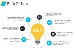 Bulb Or Idea Good Ppt Example