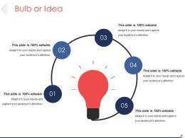 Bulb Or Idea Good Ppt Example Template 1