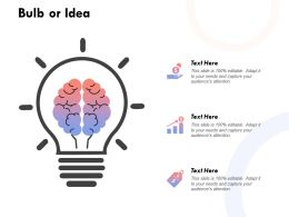 Bulb Or Idea Innovation 232 Ppt Powerpoint Presentation Infographic
