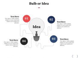 Bulb Or Idea Innovation F501 Ppt Powerpoint Presentation Inspiration Master Slide