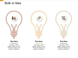 Bulb Or Idea Innovation F727 Ppt Powerpoint Presentation Pictures Styles