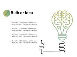 Bulb Or Idea Innovation F734 Ppt Powerpoint Presentation Gallery Example