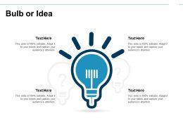 Bulb Or Idea Innovation I139 Ppt Powerpoint Presentation Diagram Ppt
