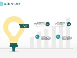 Bulb Or Idea Innovation I218 Ppt Powerpoint Presentation Show Demonstration