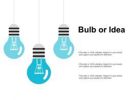 Bulb Or Idea Innovation I298 Ppt Powerpoint Presentation File Vector