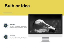 Bulb Or Idea Innovation K180 Ppt Powerpoint Presentation Ideas Styles
