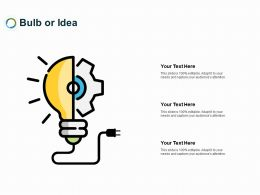 Bulb Or Idea Innovation L261 Ppt Powerpoint Presentation Portfolio