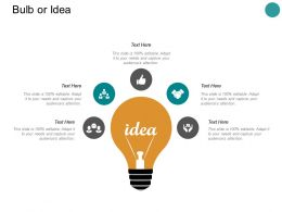 Bulb Or Idea Innovation L311 Ppt Powerpoint Presentation Pictures