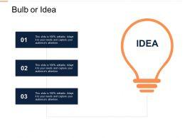 Bulb Or Idea Innovation L326 Ppt Powerpoint Presentation Gallery