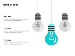 Bulb Or Idea Innovation Management L162 Ppt Powerpoint Presentation Format