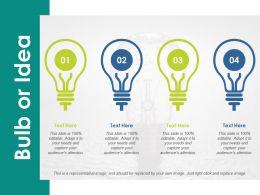 Bulb Or Idea Innovation Ppt Summary Design Inspiration