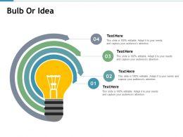 Bulb Or Idea Innovation Process F504 Ppt Powerpoint Presentation Inspiration Sample