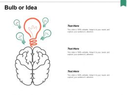 Bulb Or Idea Knowledge Ppt Powerpoint Presentation Portfolio Outfit