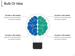 Bulb Or Idea Powerpoint Ideas Template 1