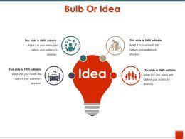 Bulb Or Idea Powerpoint Layout