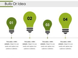 Bulb Or Idea Powerpoint Shapes