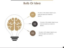 Bulb Or Idea Powerpoint Slide Background
