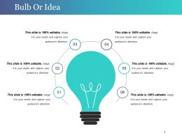 Bulb Or Idea Powerpoint Slide Background Designs