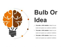 Bulb Or Idea Powerpoint Slide Background Image