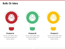 Bulb Or Idea Powerpoint Slide Background Picture Template 1