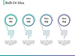 Bulb Or Idea Powerpoint Slide Clipart