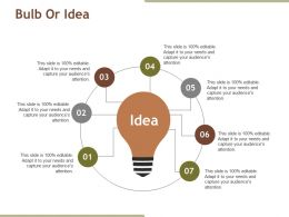 Bulb Or Idea Powerpoint Slide Influencers