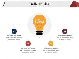 Bulb Or Idea Powerpoint Slide Information