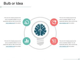 Bulb Or Idea Powerpoint Slide Presentation Sample Template 1