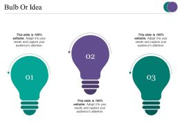 Bulb Or Idea Powerpoint Slide Presentation Tips