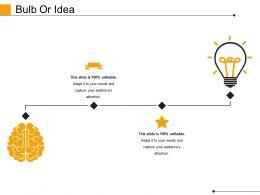 Bulb Or Idea Powerpoint Slide Show