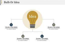Bulb Or Idea Powerpoint Slides Design