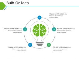 Bulb Or Idea Powerpoint Slides Templates Template 1