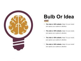 Bulb Or Idea Powerpoint Templates