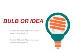 Bulb Or Idea Powerpoint Templates Template 1