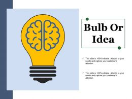 Bulb Or Idea Powerpoint Themes
