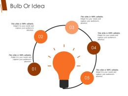 Bulb Or Idea Ppt Background Graphics